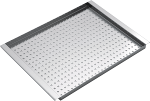Rectangular stainless steel bowl cover