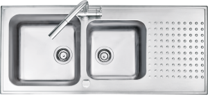 116×50 cm Select raised edge built-in sink
