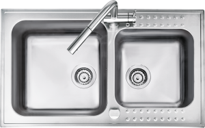 86×50 cm Select raised edge built-in sink
