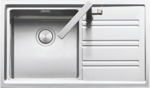 86×51 cm Easy flat edge built-in and flush sink