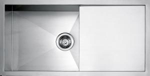 """Lavello vasca quadra raggio """"0"""" da 86,5×45,5"""