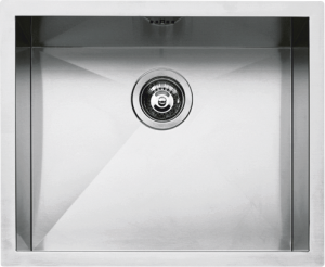 "50×40 cm built-in, flush and undermounted square bowl with radius ""0"""