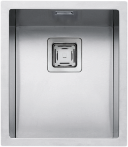 "34×40 cm built-in, flush and undermounted square bowl with radius ""12"""
