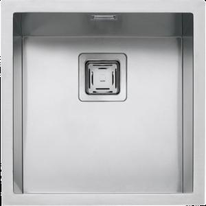 """Cuve carrée rayon """"12"""" à encastrement et au ras du plan, sous plan de travail de 40×40"""