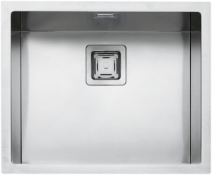 "50×40 cm built-in, flush and undermounted square bowl with radius ""12"""