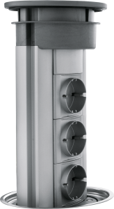 Extractable power socket tower unit