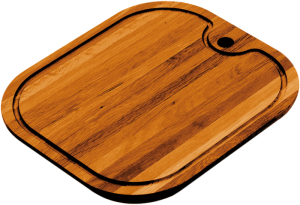 Rectangular iroko chopping board
