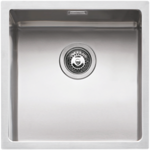 "40×40 cm built-in, flush and undermounted square bowl with radius ""15"""