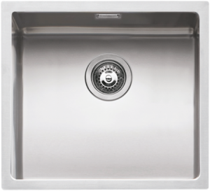 "45×40 cm built-in, flush and undermounted square bowl with radius ""15"""