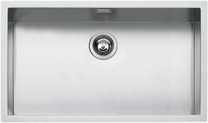"71×40 cm built-in, flush and undermounted square bowl with radius ""15"""