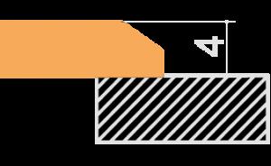Incasso vetro bordo bisellato (IVB)