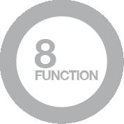 8 funzioni di cottura manuale