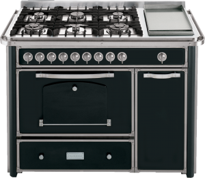 123 cm cooker with 4 gas,  2 triple rings and Fry Top hob with large handle