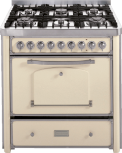 90 cm cooker with 3 gas burners, triple ring and fish burner hob with large handle