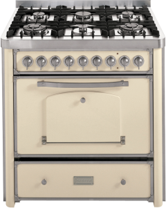 90 cm cooker with 4 gas burners and 2 triple rings hob