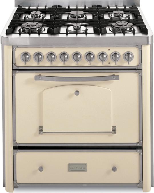 Cucina da 90 con piano cottura 4 gas e 2 tripla corona - Barazza srl