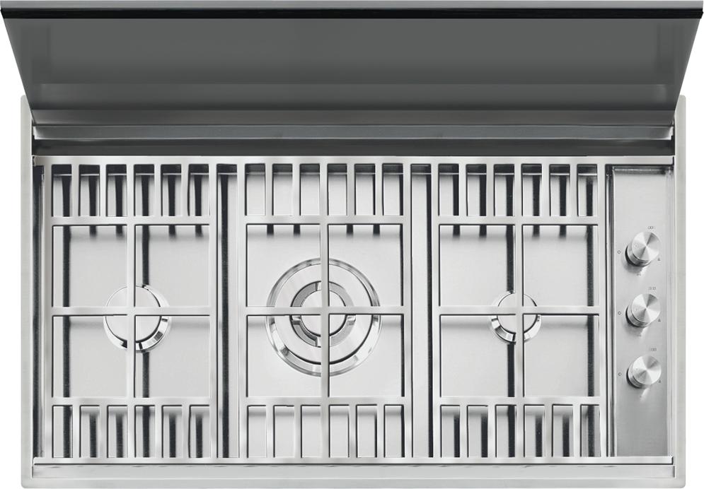 Piano cottura Lab con coperchio incasso e filo da 90 - Barazza srl