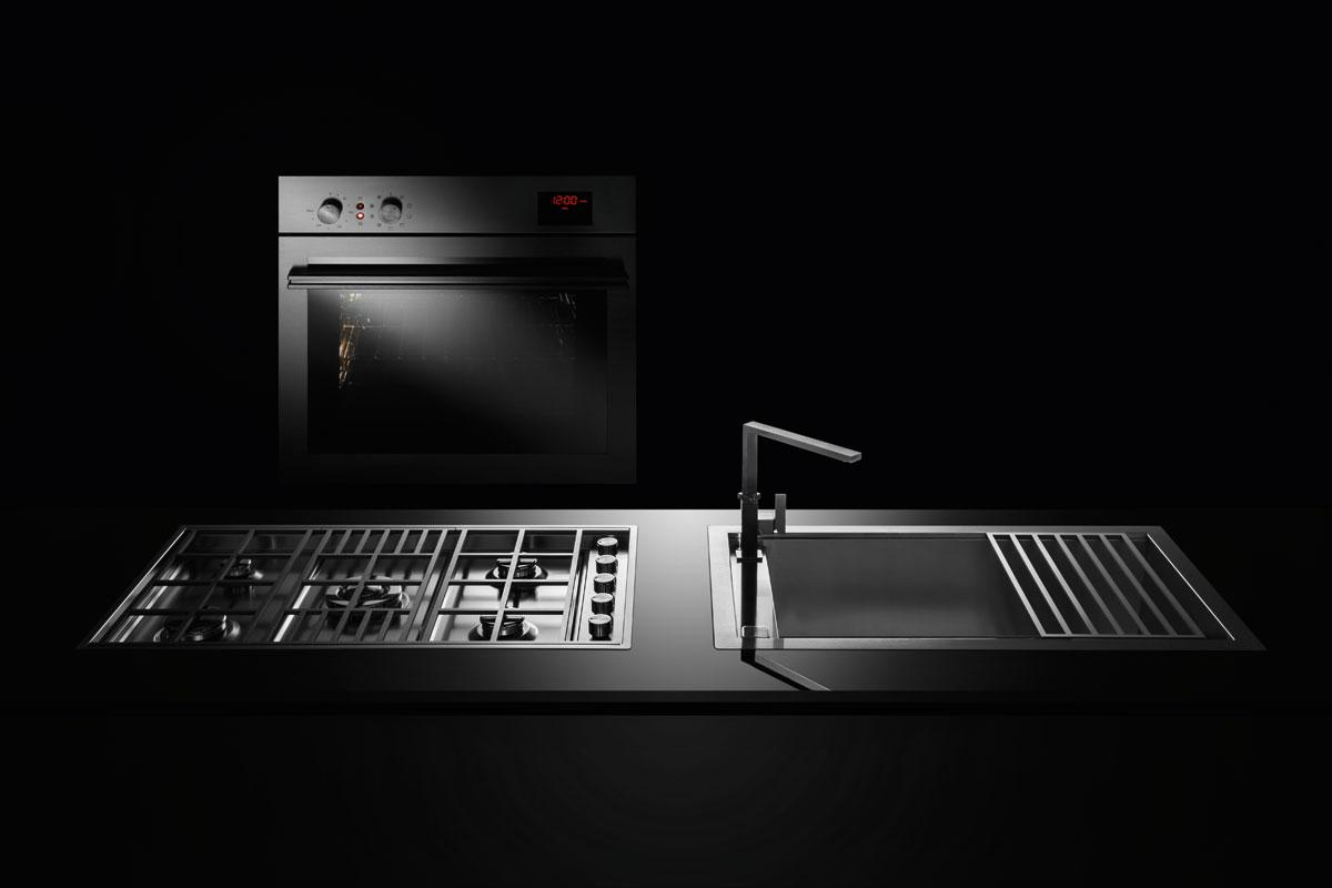 Piano cottura Lab incasso e filo da 120 - Barazza srl
