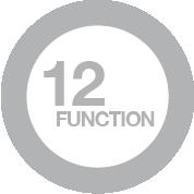 12 funzioni di cottura manuale