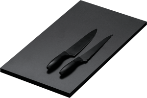 Black HPL sliding chopping board