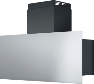 Steel wall cooker hood for 90 cm module