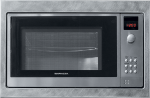 Built-in microwave vintage steel