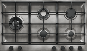 90 cm B_Free Vintage built-in hob 3 gas burners + Chef double ring + double ring 4 kW
