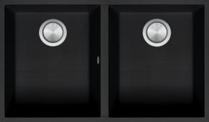 Doppia Vasca Quadra Soul da 72×39,5 B_granite nero