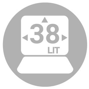 Capacity 38 liters