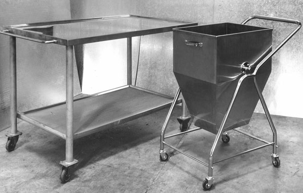 stainless steel mobile bench and cart