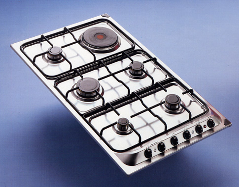 """90"" series cooking hob with 5 burners + 1 electric plate"