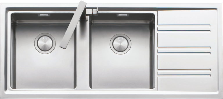 116×50 cm Easy lowered edge built-in sink