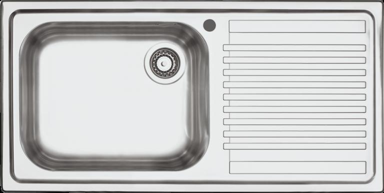Lavello B_Fast incasso da 100×50