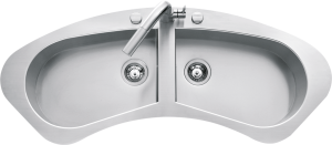 Tao curved built-in and flush sink