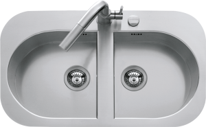 88×51 cm Tao built-in and flush sink