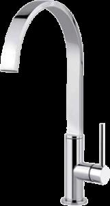 Flat mixer tap