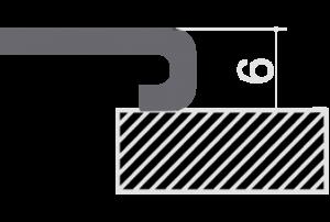 Encastrement bord carré (IBQ)