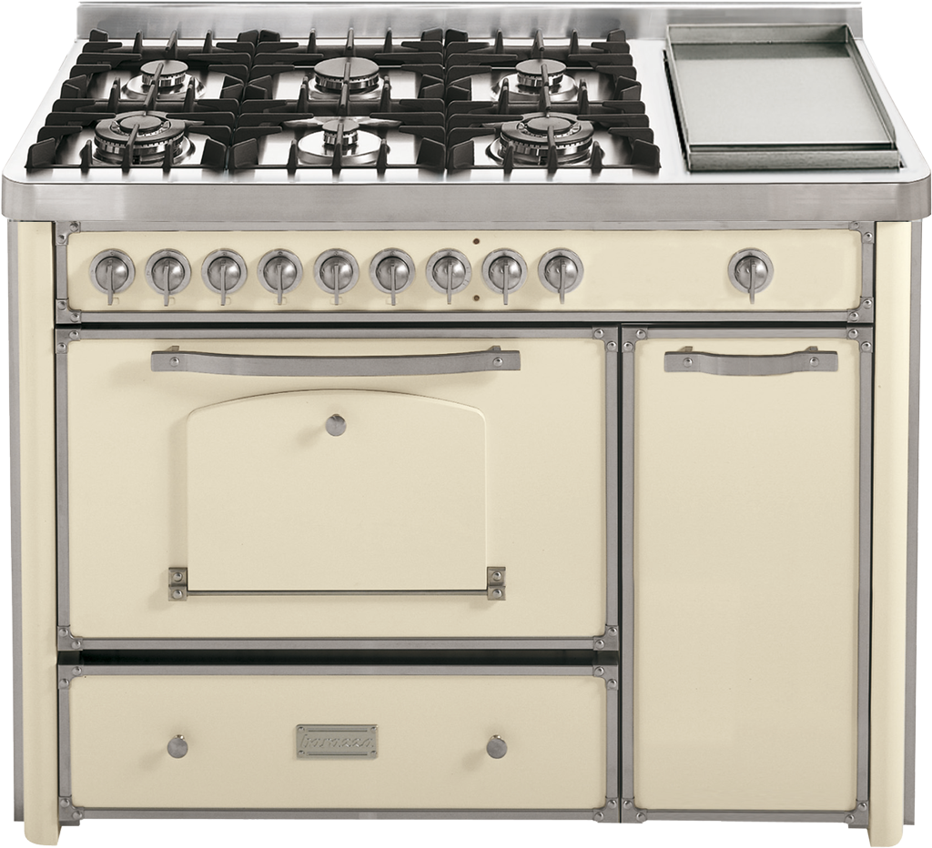 Cucina da 123 con piano cottura 4 gas 2 tripla corona e fry top barazza srl - Cucina a gas da 90 ...