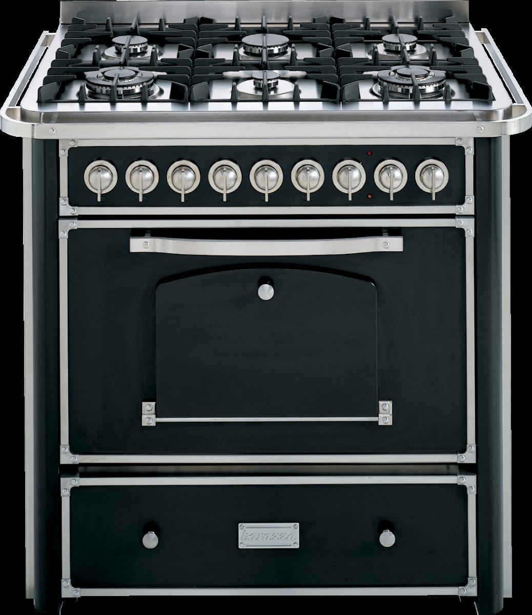 Cucina da 90 con piano cottura 4 gas e 2 tripla corona con maniglione barazza srl - Cucina a gas da 90 ...