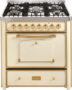 90 cm cooker with 3 gas burners, triple ring and fish burner hob