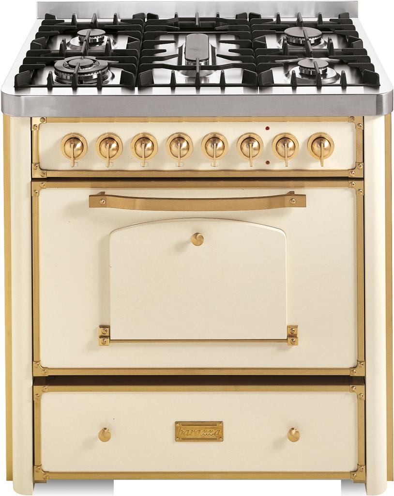Cucina da 90 con piano cottura 3 gas, tripla corona e pesciera ...