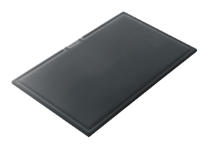 Tabla de cortar rectangular de HPL negro
