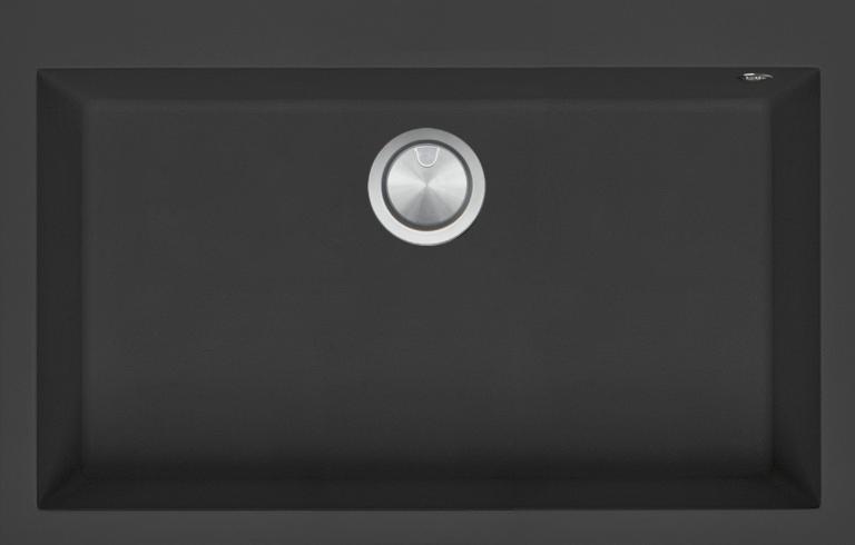 79.5×50.5 cm Soul built-in sink black