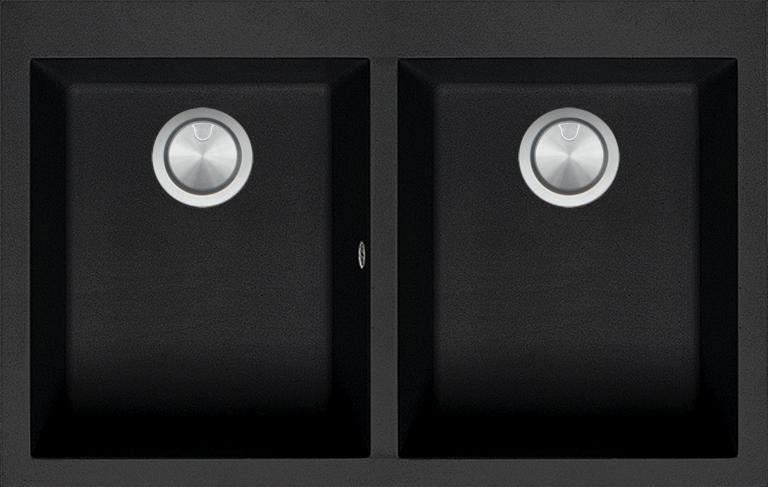79×50 cm Soul built-in sink black