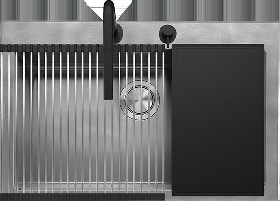 Lavello Unique Kit incasso da 79×51