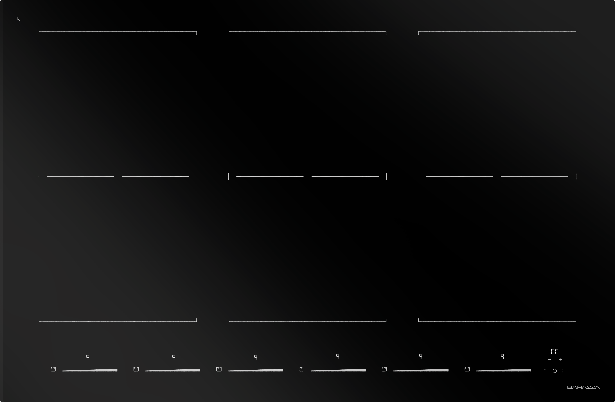 Miglior Piano Cottura Induzione 2018 piano cottura induzione space incasso e filo da 80 - barazza srl