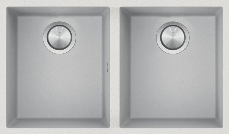 Double Cuve Carrée Soul de 72×39,5 B_granit blanc