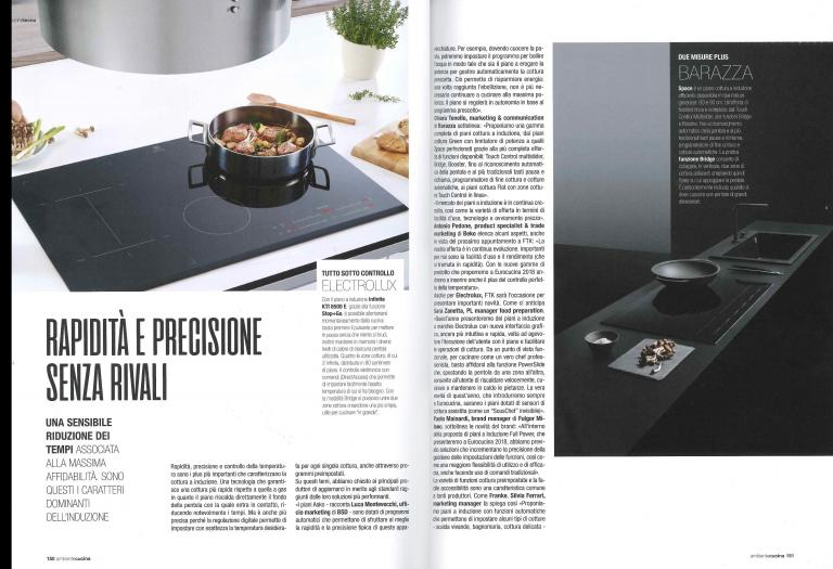 """SPACE INDUCTION HOBS ON """"AMBIENTE CUCINA"""" MAGAZINE"""