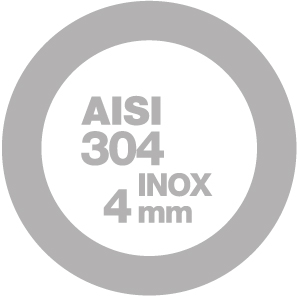 4mm AISI 304 stainless steel
