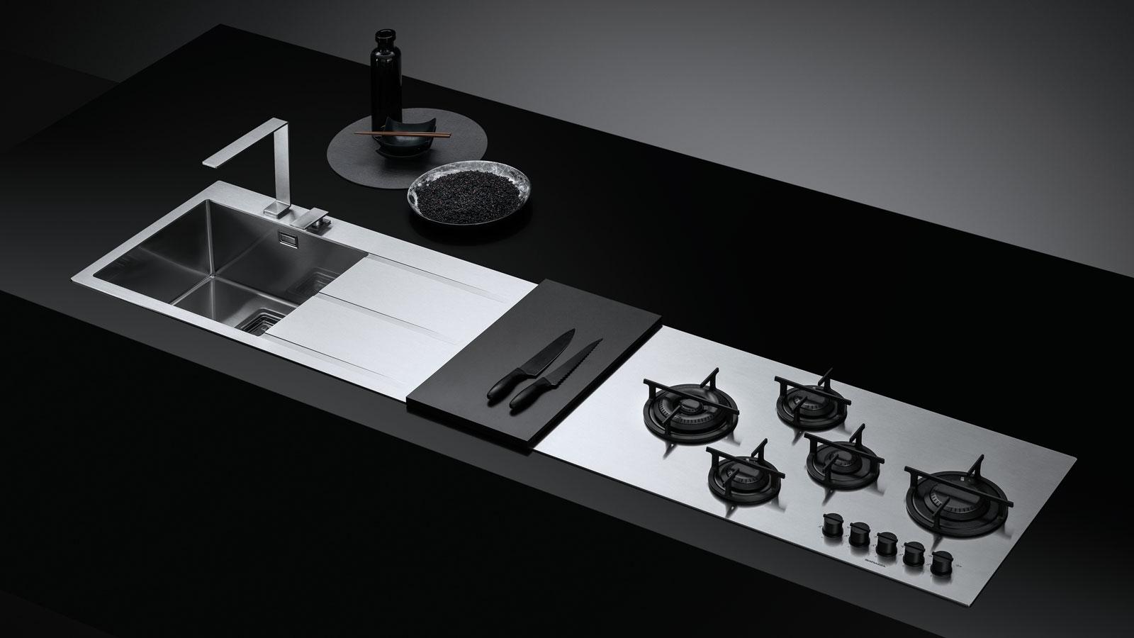 Fusion Piano D Acciaio Ad Incasso Per Cucine Componibili Barazza Srl